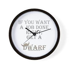 Dwarven Job Wall Clock