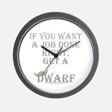 Dwarven Job Wall Clock