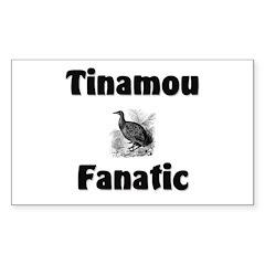 Tinamou Fanatic Rectangle Decal