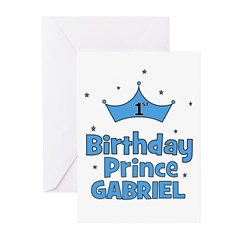 1st Birthday Prince Gabriel! Greeting Cards (Pk of