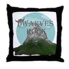 Dwarves Rock - Mountain Throw Pillow