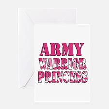 ARMY Warrior Princess Greeting Card