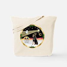XmasDove/Doberman Pinscher (black) Tote Bag
