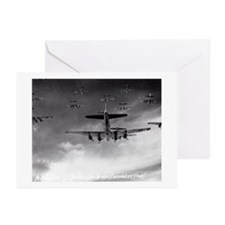 B-17's Over Germany Greeting Cards (Pk of 10)