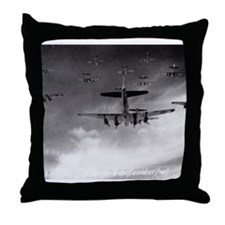 B-17's Over Germany Throw Pillow