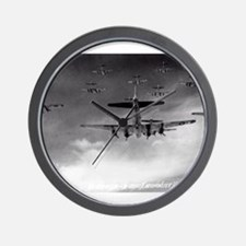 B-17's Over Germany Wall Clock