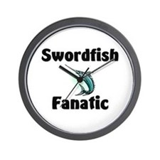 Swordfish Fanatic Wall Clock
