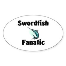 Swordfish Fanatic Oval Decal