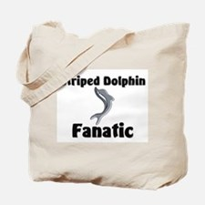 Striped Dolphin Fanatic Tote Bag