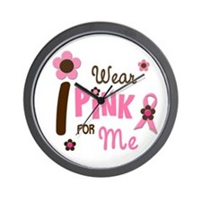 I Wear Pink For ME 12 Wall Clock