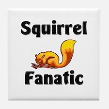Squirrel Fanatic Tile Coaster