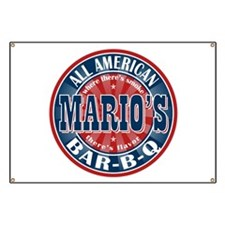 Mario's All American BBQ Banner