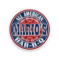 """Mario's All American BBQ 3.5"""" Button"""
