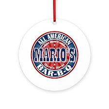 Mario's All American BBQ Ornament (Round)