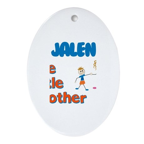 Jalen - The Little Brother Oval Ornament