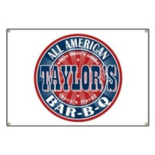 Taylor's All American BBQ Banner