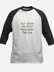 Don't blame the elf Kids Baseball Jersey