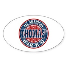 Thomas' All American BBQ Oval Decal