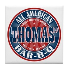 Thomas' All American BBQ Tile Coaster