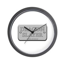 Brushed Steel - Dragon Slayer Wall Clock