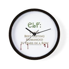 Tasty Elves Wall Clock