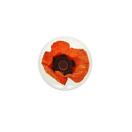 Red Poppies Mini Button (100 pack)