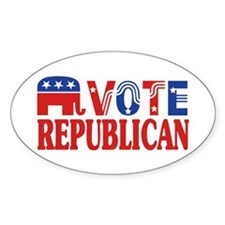 Vote Republican! Oval Decal