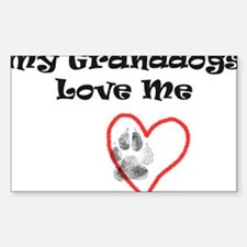 Granddogs Love Rectangle Decal