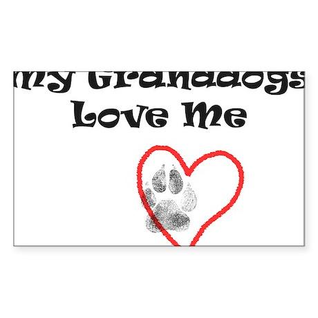 Granddogs Love Rectangle Sticker