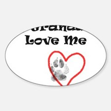 Granddogs Love Oval Decal