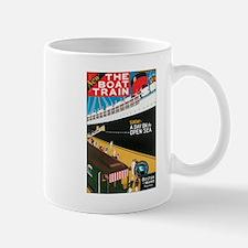 Boston Maine Boat Train Mug