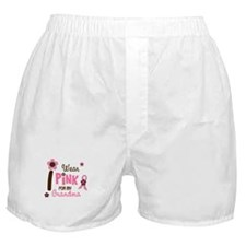 I Wear Pink For My Grandma 12 Boxer Shorts