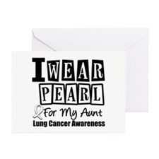 I Wear Pearl For My Aunt Greeting Cards (Pk of 10)