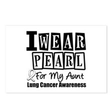 I Wear Pearl For My Aunt Postcards (Package of 8)