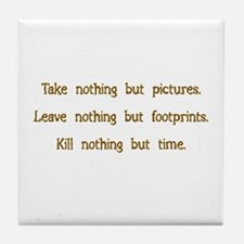 Pictures, Footprints Tile Coaster