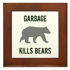 Garbage Kills Bears Framed Tile