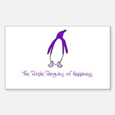 Purple Penguins of Happiness Rectangle Decal
