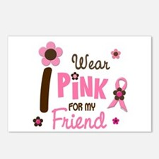 I Wear Pink For My Friend 12 Postcards (Package of
