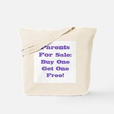 Parents For Sale: Purple Tote Bag
