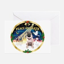 XmasSunrise/Pug Greeting Card