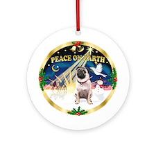 XmasSunrise/Pug Ornament (Round)
