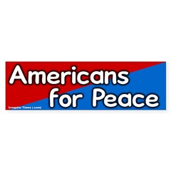Americans for Peace Bumper Bumper Sticker