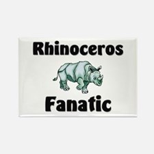 Rhinoceros Fanatic Rectangle Magnet