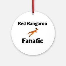 Red Kangaroo Fanatic Ornament (Round)