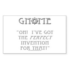 Gnome - Invention Rectangle Decal