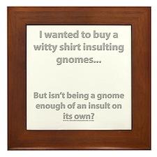 Insulting Gnomes Framed Tile