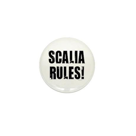 Scalia Rules Mini Button