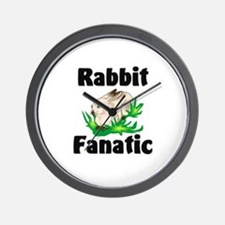 Rabbit Fanatic Wall Clock