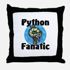 Python Fanatic Throw Pillow