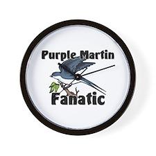 Purple Martin Fanatic Wall Clock
